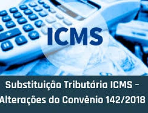 SUBSTITUIÇÃO TRIBUTÁRIA (CONVÊNIO ICMS 142/18)