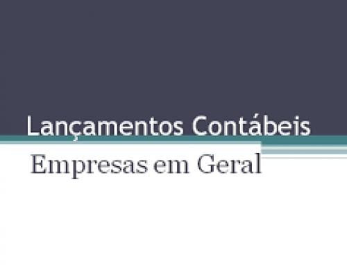 PRÁTICO DE LANÇAMENTOS CONTÁBEIS