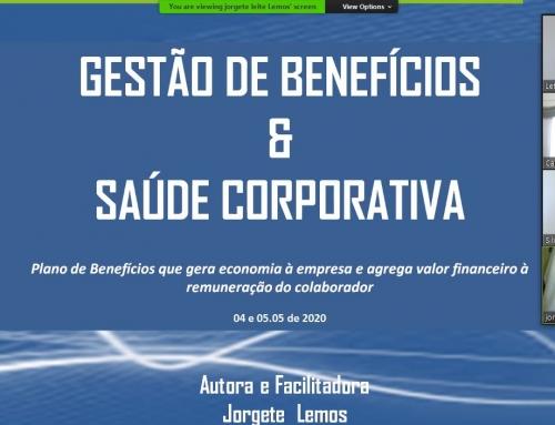 Prof Jorgete Lemos – OnLine Gestão de Benefícios – Missão Cumprida !!